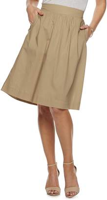 Apt. 9 Women's Poplin Pull-On Midi Skirt