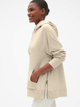 Gap Oversized Side-Zip Pullover Hoodie in French Terry