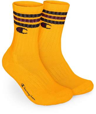 Champion Life Mens C Logo Crew Socks, 12-14