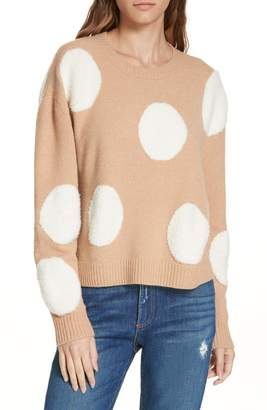 Alice + Olivia Gleeson Polka Dot Boxy Sweater