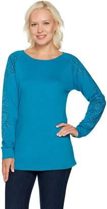 Factory Quacker Rhinestone Chic Raglan Sleeve Tunic