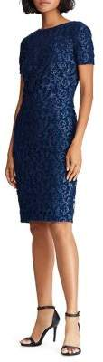 Lauren Ralph Lauren Lace Slim-Cut Sheath Dress