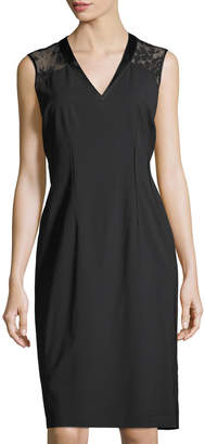 Lafayette 148 New York Jillesa Lace-Yoke Sheath Dress