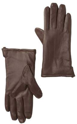 Fownes Bros Faux Fur Lined Leather Gloves