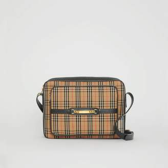 Burberry The Large 1983 Check Link Camera Bag, Black