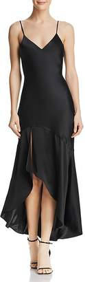 CAMI NYC Sandra Flounced Silk Slip Dress