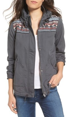 Roxy 'Wintercloud' Print Denim Jacket $79.50 thestylecure.com