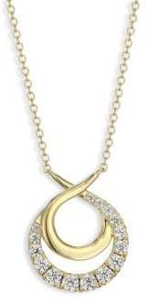 Hearts On Fire Optima Diamond, Crystal& 18K Yellow Gold Circle Necklace