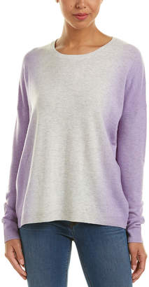 Vince Cashmere-Blend Vertical Dip Dye Sweater