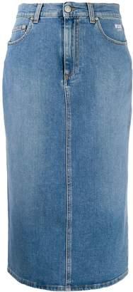 MSGM high-waist denim skirt