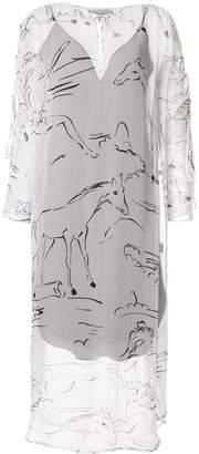Lee Mathews Gypsy Silk Channel Dress