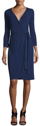 Diane von Furstenberg New Julian Two Matte Jersey Wrap Dress, Midnight $368 thestylecure.com