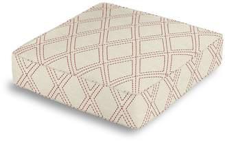 Loom Decor Box Floor Pillow Diamonds Are Forever - Crimson