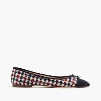 Gemma cap-toe flats in tweed $118 thestylecure.com