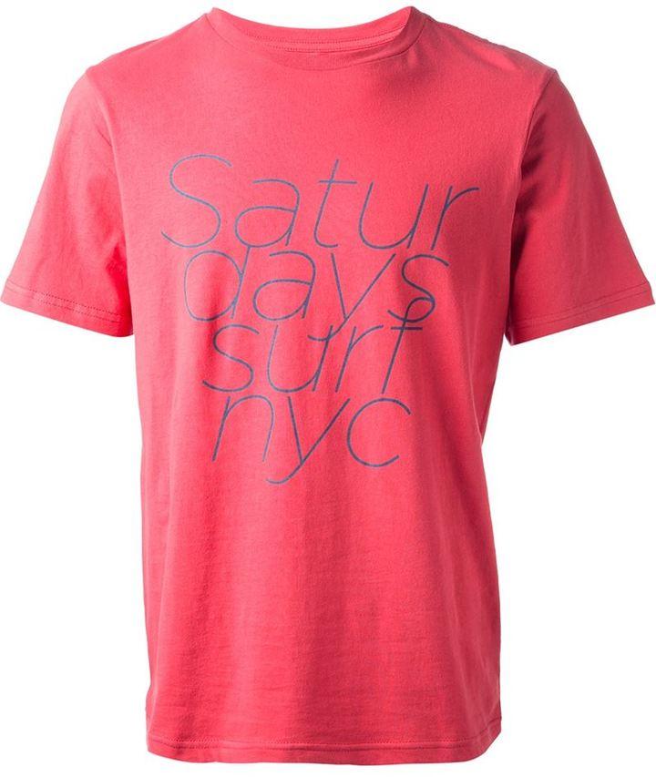 Saturdays Surf NYC worded print t-shirt