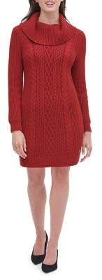 Tommy Hilfiger Cable-Knit Sweater Dress
