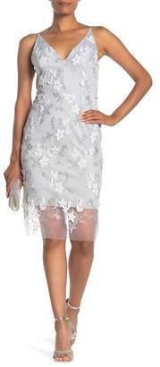 Dress Forum Embroidred Floral V-Neck Dress