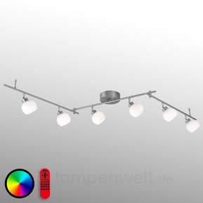 6-flg. RGB-LED-Deckenlampe Lola-Lotta inklusive FB