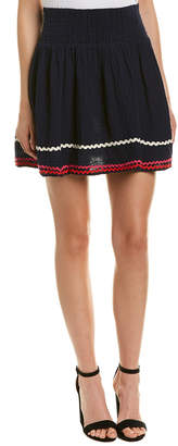 Michael Stars Smocked Mini Skirt