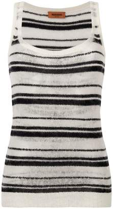 Missoni stripe knitted top