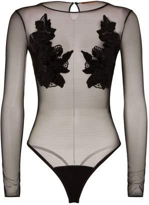 Ermanno Scervino Floral Applique Bodysuit