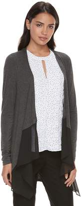 Elle Women's Mixed-Media Flyaway Cardigan