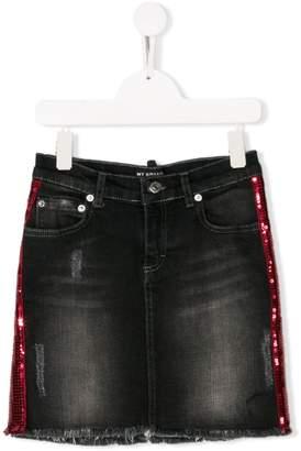 My Brand Kids TEEN sequinned stripe skirt