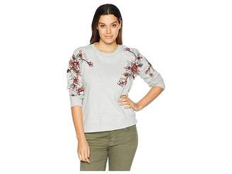 Vince Camuto French Terry Embroidered Sweatshirt