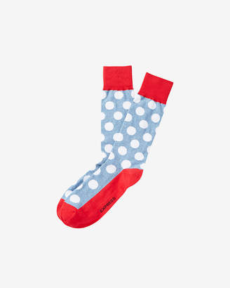 Express Dot Print Dress Socks
