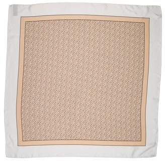 Burberry 2018 TB Monogram Silk Scarf