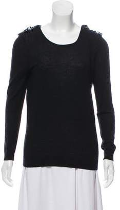 Claudie Pierlot Wool Pleated Sweater