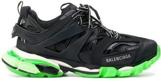 Balenciaga green and black track sneakers