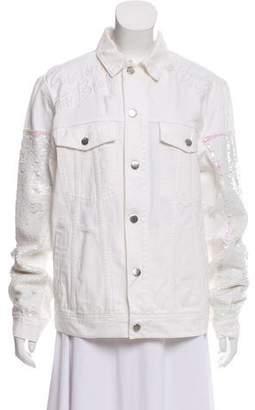 Filles a papa Denim Sequin-Embellished Jacket