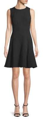 Anne Klein Fit-&-Flare Crepe Dress