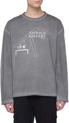 A-Cold-Wall* 'National Gallery' slogan logo print long sleeve T-shirt