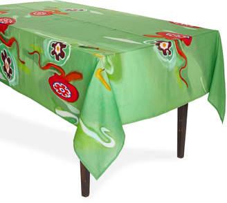 Arjumand's World Murrina Green Tablecloth