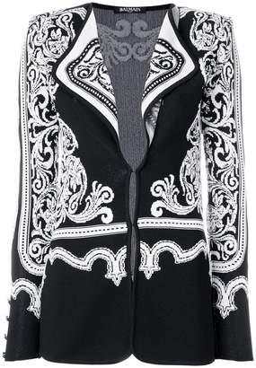 Balmain jacquard effect cardigan