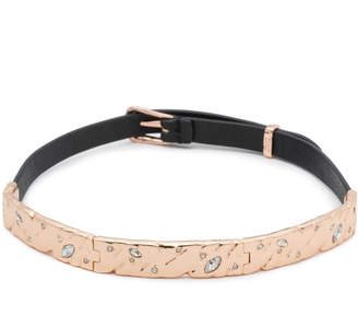Alexis Bittar Hinged Leather Choker