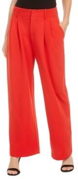 Bar III Pleated Wide-Leg Pants, Created for Macy's