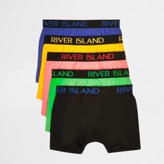 River Island Mens Blue multicolour RI boxers multipack