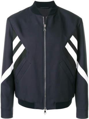 Neil Barrett striped bomber jacket navy