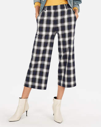Express High Waisted Wide Leg Cropped Culottes