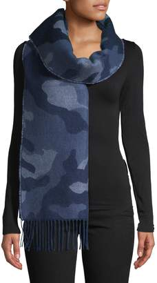 Etereo Brushed Camouflage Knit Scarf
