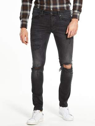 River Island LA Washed Ripped Skinny Jean