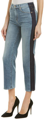 7 For All Mankind Seven 7 Kiki Gold Coast Waves Cropped Wide Leg