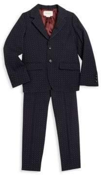 Gucci Toddler's, Little Boy's& Boy's Polka Dot Suit Jacket& Pants Set