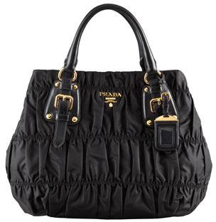 Prada Tessuto Gaufre Tote Bag, Black (Nero)