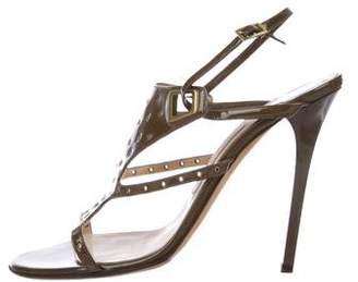 Jimmy Choo Patent Leather Grommet Sandals