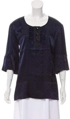 Marc by Marc Jacobs Ruffled Short Sleeve Top