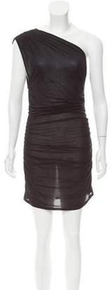 Helmut Lang One-Shoulder Mini Dress